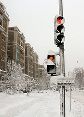 Red Light Tickets in Snow